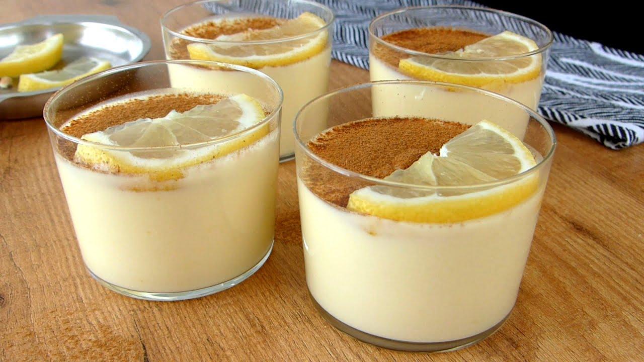 Natillas de Limón y Canela ¡Postre Refrescante y Fácil!