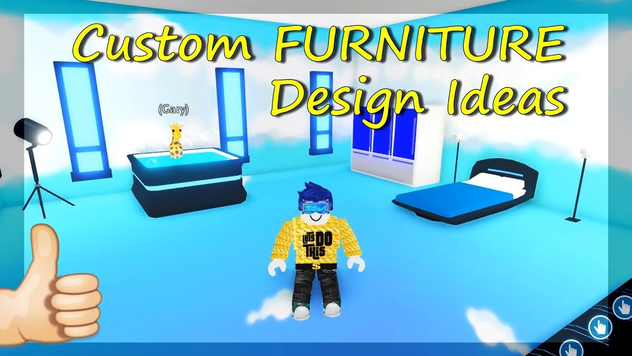 5 Custom Furniture Design Ideas & Building Hacks (ROBLOX ...