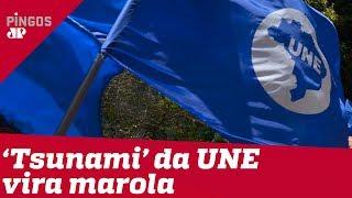 'Tsunami' prometido pela UNE vira marola