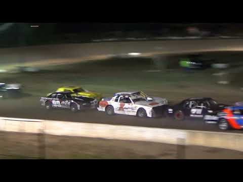 Street Stock Feature Race at Mt. Pleasant Speedway on 07-27-18.