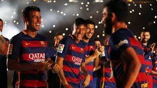 La presentación del FC Barcelona 2015/16