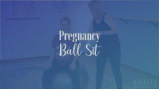 Pregnancy Ball Sit