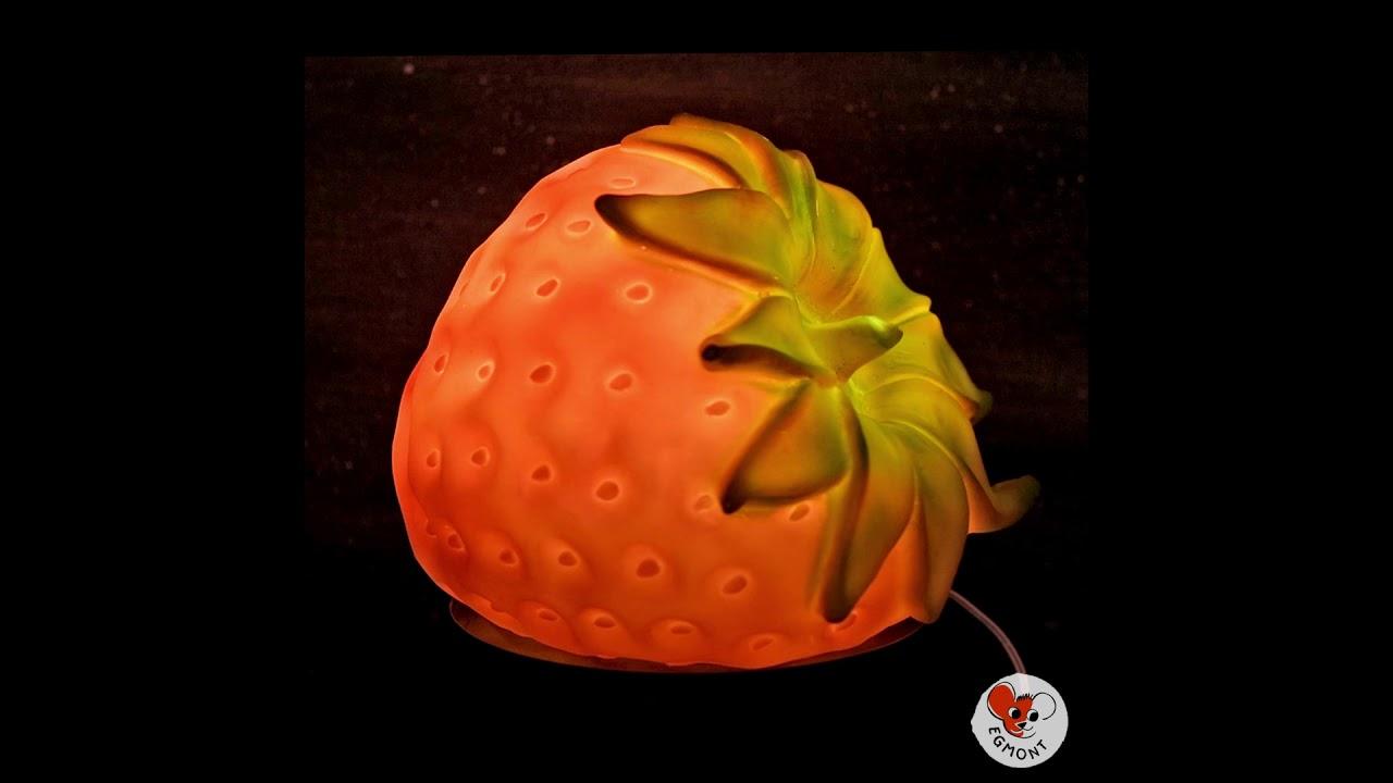 Toys Poser H21cm Strawberry À Fraise Lampe Veilleuse Egmont Rouge Rj3A54qL