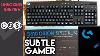 Logitech G810 Orion Spectrum Review & Unboxing