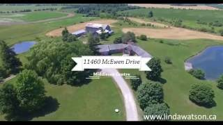 Aerial Tour of 11460 McEwen Drive, Middlesex Centre, Ontario