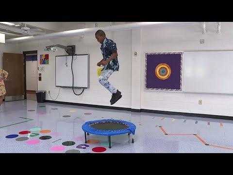 'Learning in Motion': North Carolina Elementary School Has Sensory Path Classroom