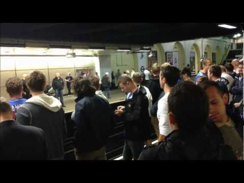 Chelsea Fans Singing at Fulham Broadway Tube Station