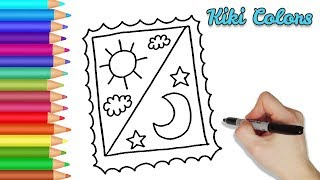 How to Draw a Stamp | Drawing for Kids and Toddlers Coloring Page Video