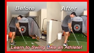 Former NFL QB Aaron Murray Learns to Swing Golf Club Like an Athlete