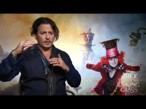"""Alice Through the Looking Glass: Johnny Depp """"The Mad Hatter"""" Official Movie Interview"""