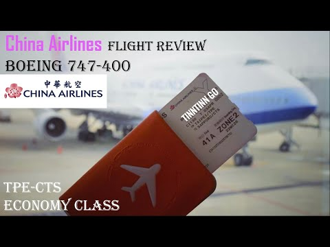 China Airlines | Boeing 747-400 | Flight Review | CI130 | Taipei to Sapporo  | Economy Class