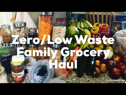Family Zero/Low Waste Bi-Weekly BIG Grocery Haul! Plus tips for a successful low waste shop 💚