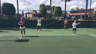 Daily Footwork Drills for tennis, coach Brian Dabul in Miami. Tennis training