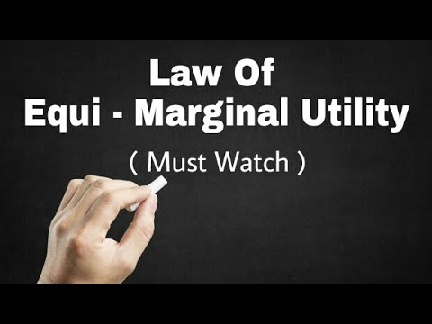 introduction of law of equi marginal utility