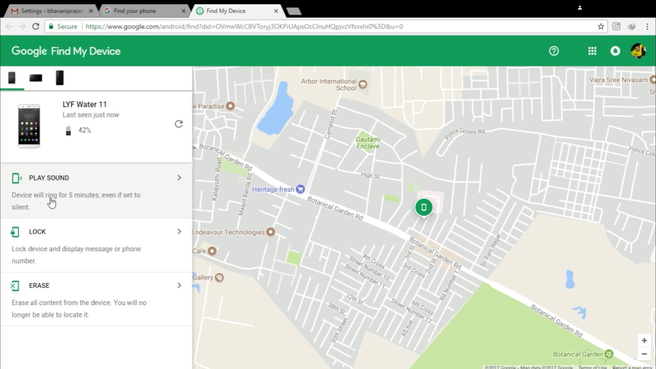 """How to find Missing Android phone using gmail """" Find My ..."""