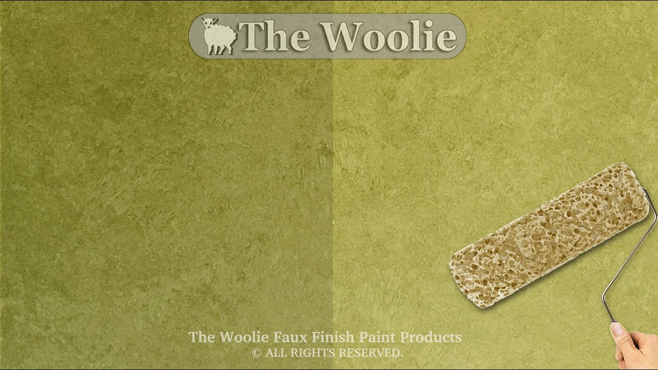 Sponge Roller Faux Finish Painting by The Woolie (How To