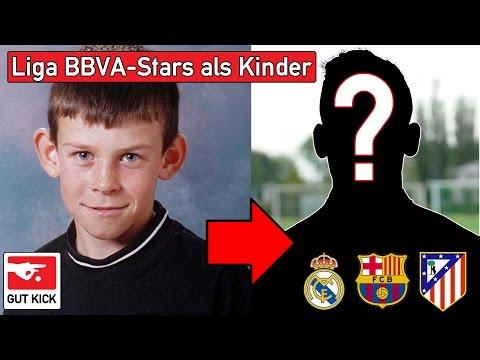 Fußballer als Kind - erkennst du diese 11 Liga BBVA Stars? Footballplayers as children - La Liga