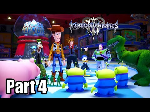 KINGDOM HEARTS 3 [PS4 PRO] English Walkthrough Part 4 - Toy Box (No Commentary)