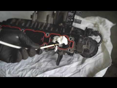 Чистка впускного коллектора двигателя Audi A4 1.8 TFSI. Пенная раскоксовка ВАЛЕРА. Инструкция