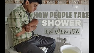 Gambar cover How people take SHOWER in winter || Hassan Ahmad