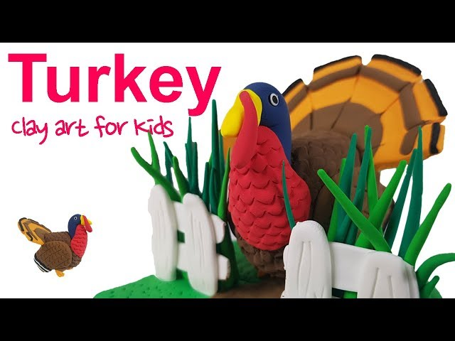 Farm animals #8 | Clay Turkey For Kids | How To Make A Clay Turkey | Clay modeling