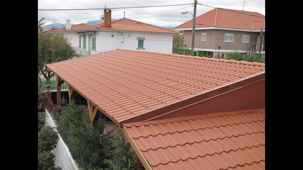 Porches con teja pl stica tejados ligeros roofy youtube for Tejados de madera para porches