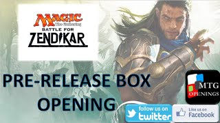 Mtg Battle For Zendikar Prerelease Box Opening