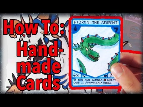 How to Make Trading Cards By Hand (5 minute tutorial)