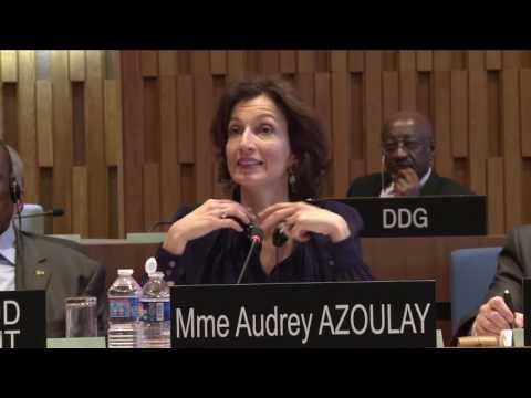 Interview of France Candidate Audrey Azoulay for the post of DG of UNESCO   Q&A Session