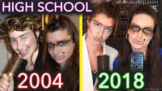 How I Did My Sister's Makeup In High School (2004 hot trends)
