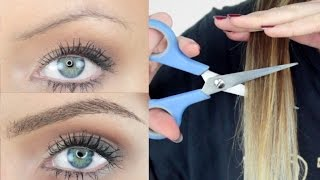 Cutting My Hair Off To Stick On As EYEBROWS!? | STEPHANIE LANGE