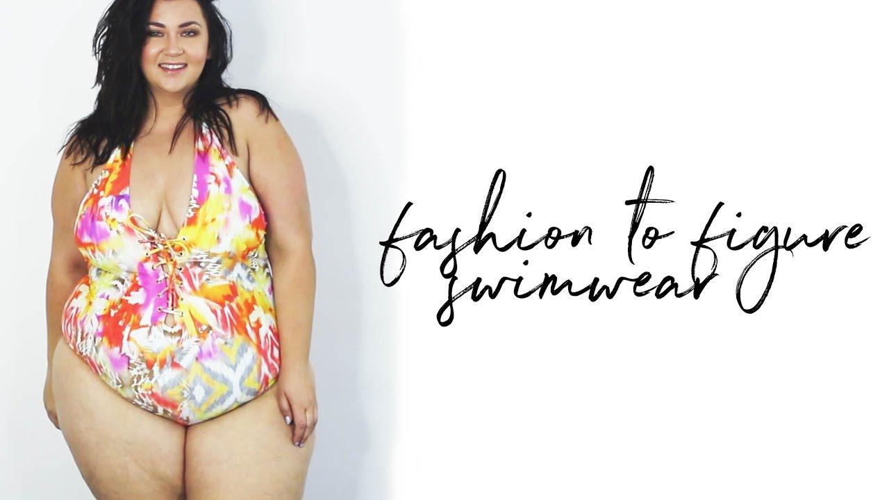 b11f5922bf0b6 PLUS SIZE FASHION TRY ON HAUL | new Fashion to Figure SWIMWEAR ...
