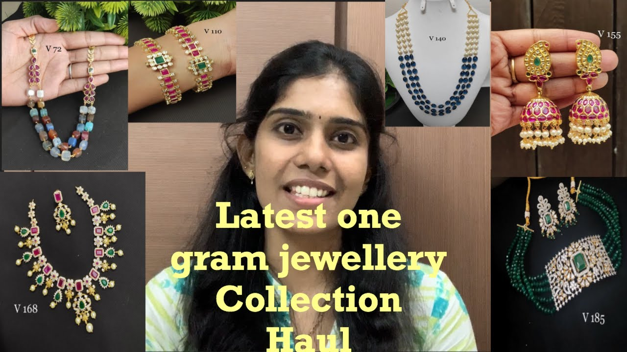 Latest one gram jewellery collection with price|Ramya.