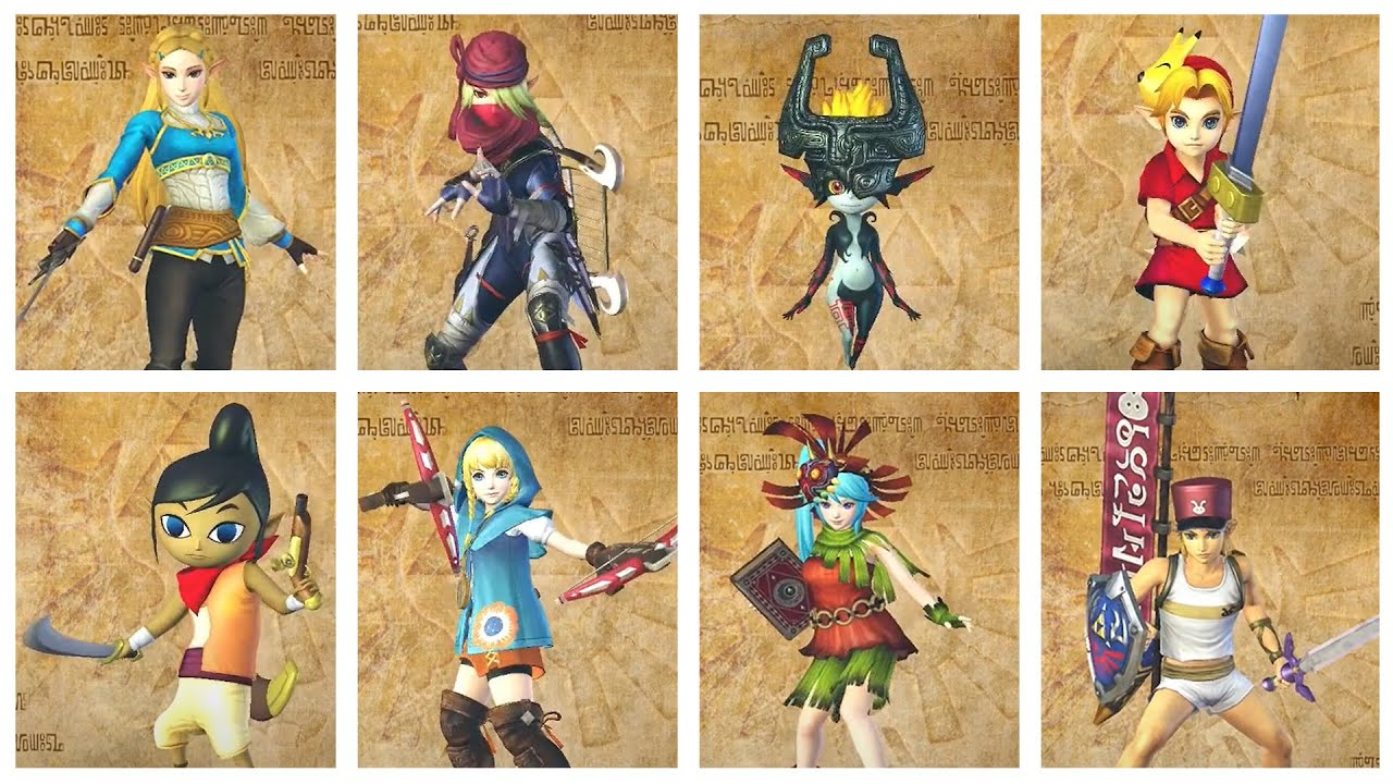 Hyrule Warriors Definitive Edition All Costumes Youtube