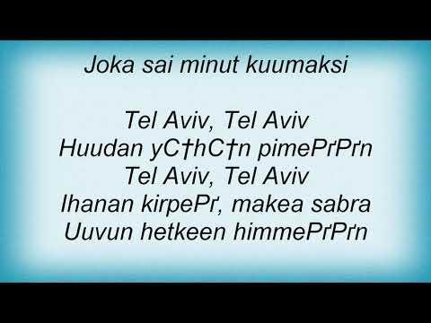 Ultra Bra - Tel Aviv, Tel Aviv Lyrics