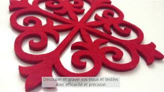 Découpe laser et gravure laser sur textiles avec TROTEC Laser