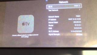 How to change the Password on your Apple TV wifi settings
