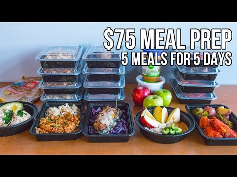 $75 Epic Meal Prep 2016  5 meals for 5 days