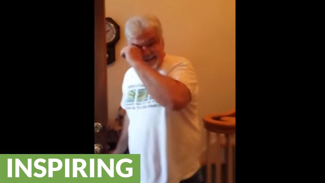 emotional grandpa meets granddaughter for the first time youtube