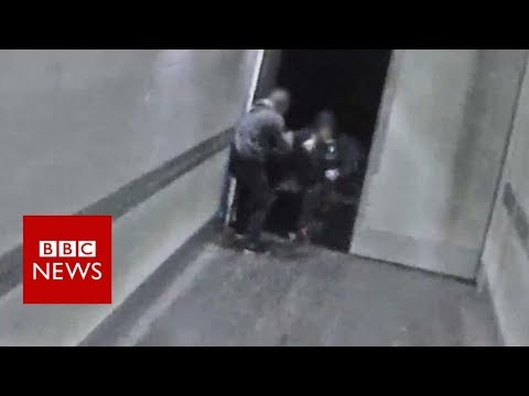High-speed robbers caught on CCTV - BBC News