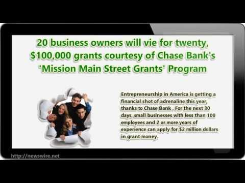 Chase Bank Has 2 Million Dollars in Grants for Small Businesses