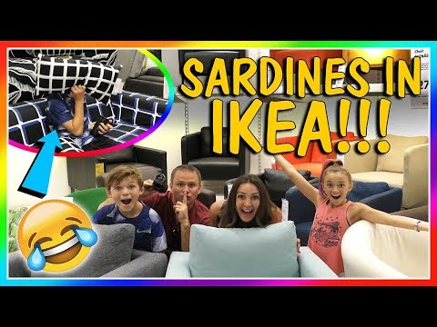 😀SARDINES IN IKEA😀| HIDE AND SEEK | We Are The Davises