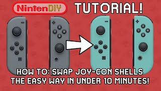 NintenDIY - TUTORIAL: Swap your Joy-Con shells the easy way in under 10 Minutes! LEARN FROM A PRO!