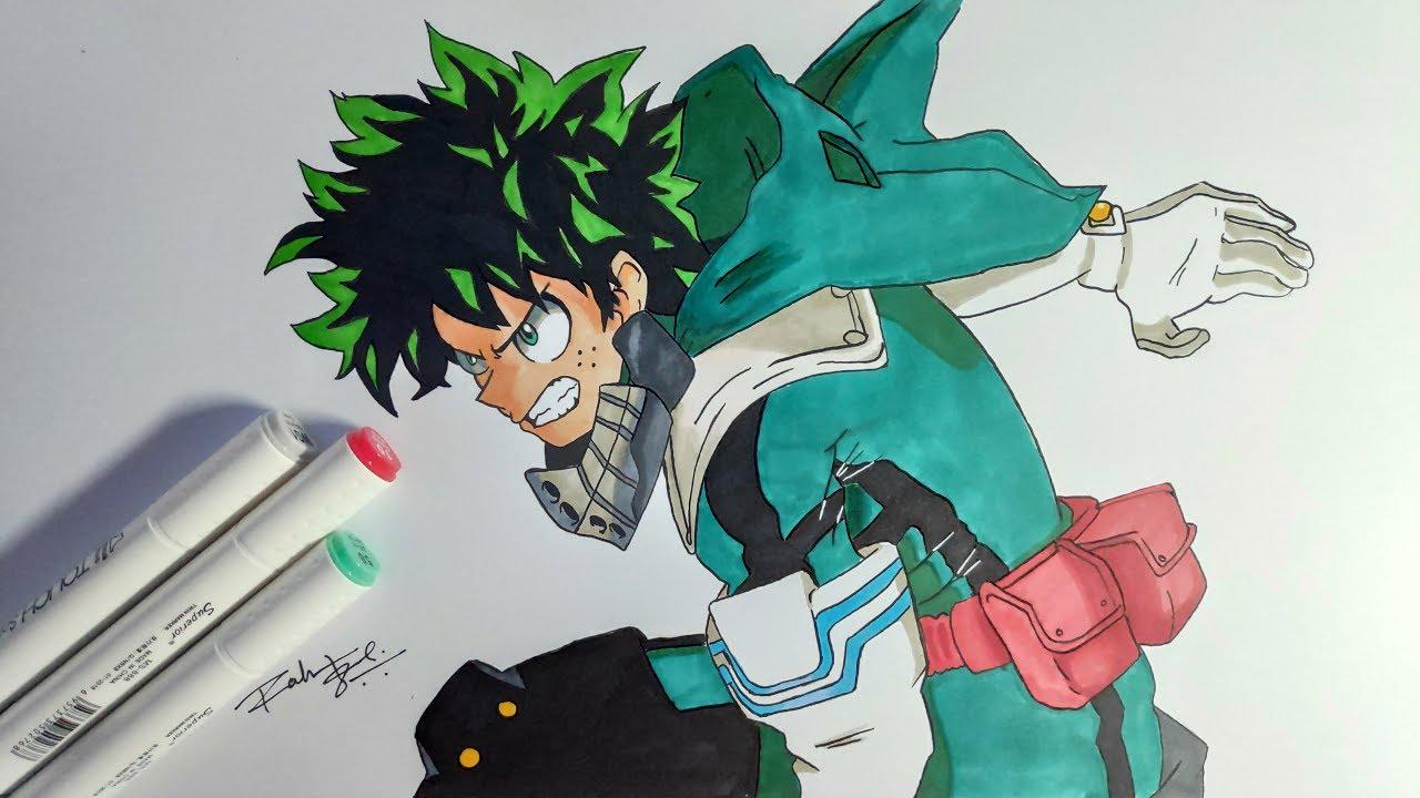 How To Draw Izuku Midoriya Step By Step Tutorial My Hero Academia