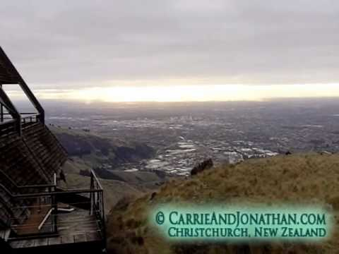 Christchurch Gondola: Tourism at the Gondola in Christchurch, New Zealand