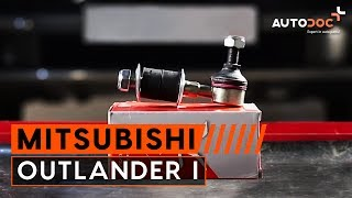 Kaip pakeisti priekinė stabilizatoriaus traukė Mitsubishi Outlander 1 PAMOKA | AUTODOC