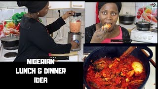 Cook lunch with me | Nigerian launch and Dinner idea | See what I did with my smoked Fish