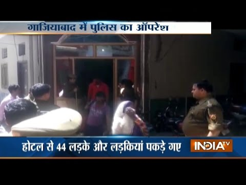 44 couples held from Ghaziabad hotels in police raid