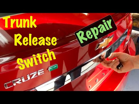 2011 12 13 14 Chevrolet Cruze Trunk Release Switch Repair (or License Lamp)