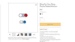 Webcam Cover Bling for Your Ring